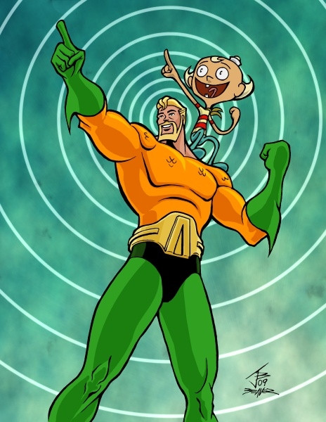 Illmosis Art Aquaman And Flapjack