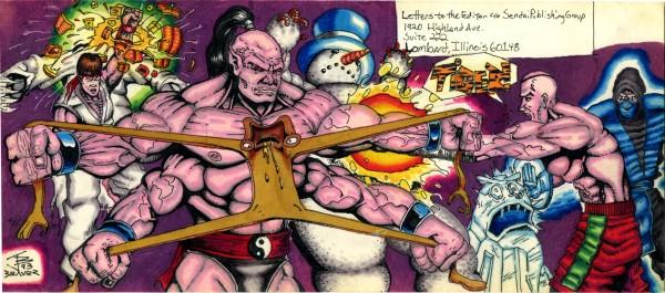 mortal kombat vs street fighter art