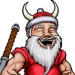 Gilius Thunderhead from Golden Axe plays Santa