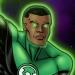 Green Lantern - John Stewart flying