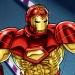 Iron Man flying in his 1994 modular armor.