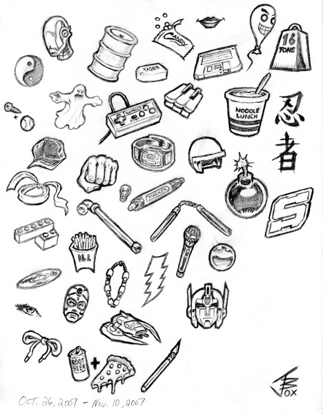coloring pages of random stuff - photo#32