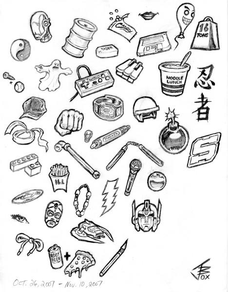 Illmosis Art: Item Doodles