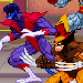 Pixel art X-Men in the Pryde of the X-Men/Konami arcade line-up.