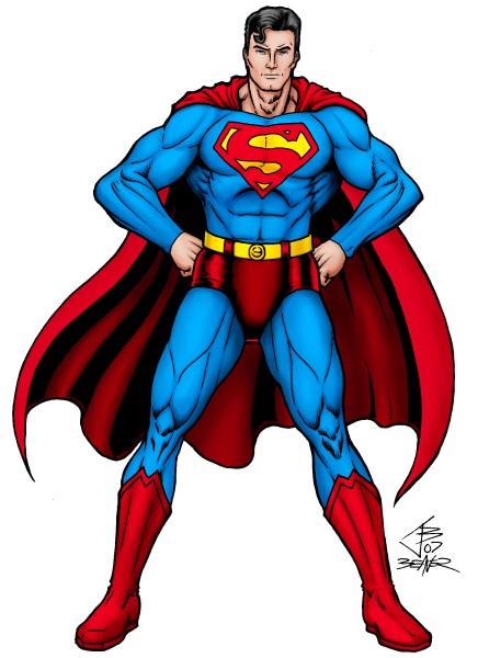 Рисунок супермена