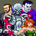 fighting game-style sprites of villains from DC Comics.