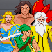 Sprites of characters from the Gauntlet video games