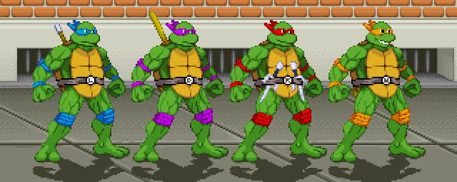Illmosis Art Teenage Mutant Ninja Turtle Sprites